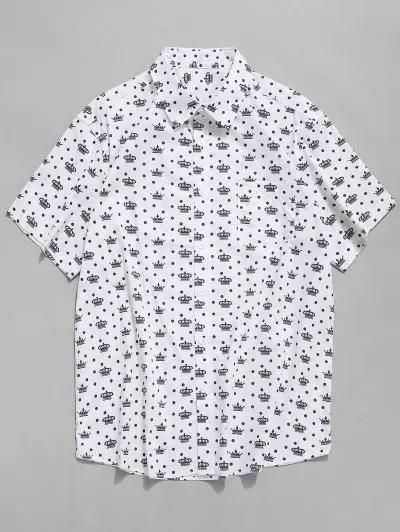 Polka Dots Crown Print Shirt