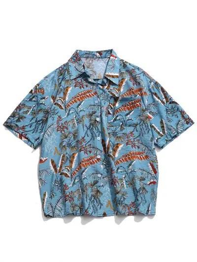 Tropical Plant Print Shirt