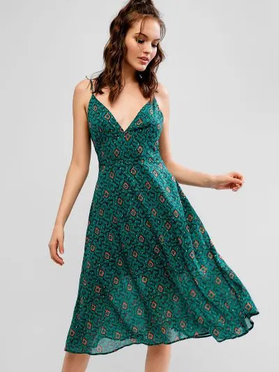 Graphic Midi Dress