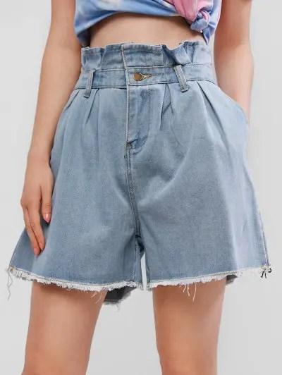 Frayed Cutoffs Denim Shorts