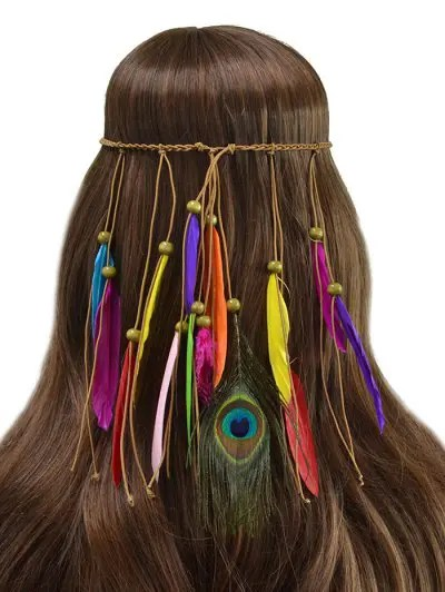 Bohemian Feather Fringe Rope Hair Accessory