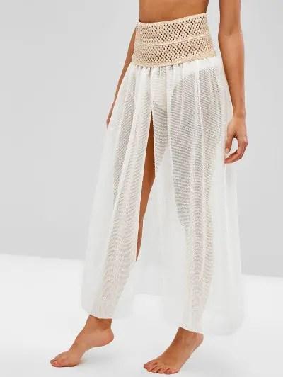 Crochet Panel Fishnet Skirt