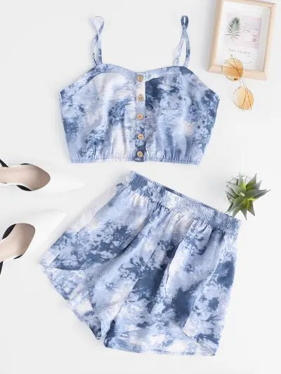 Tie Dye Camisole with Shorts Set