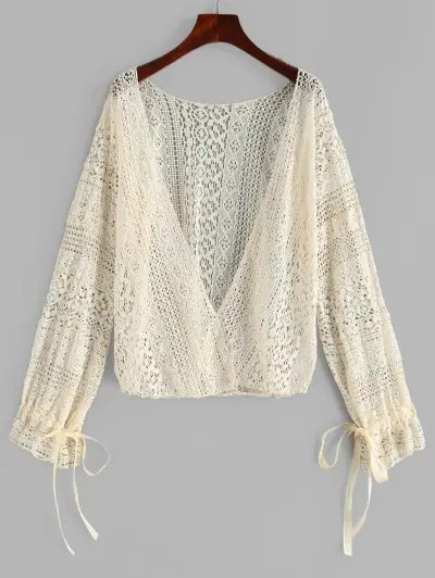 Tie Lace Cover up