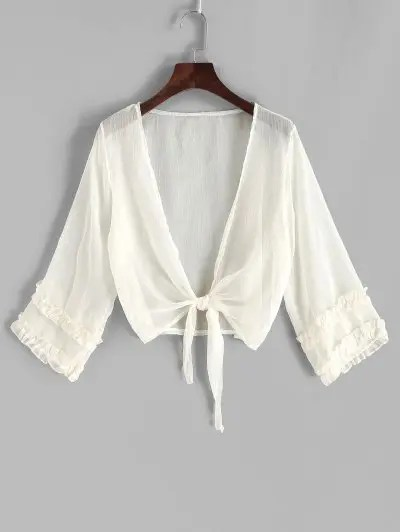 Sheer Frilled Cover up