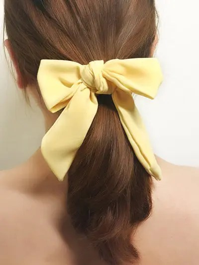 Solid Color Bowknot Hair Scrunchie