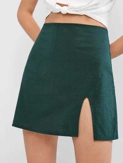 Slit Solid Skirt
