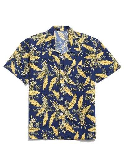 Tropical Leaf Pineapple Print Shirt
