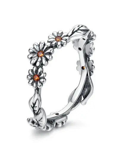 Flower Design Alloy Ring