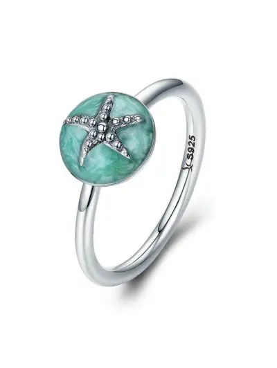 Starfish Design Rhinestone Ring
