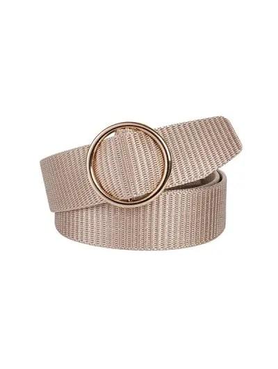 Canvas Round Buckle Simple Belt