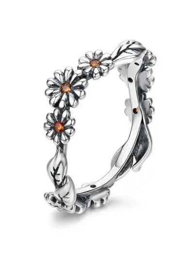 Flower Design Alloy Ring