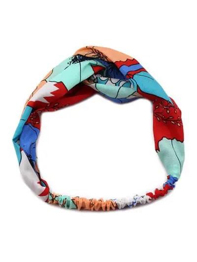 Bohemia Print Pattern Cross Headband