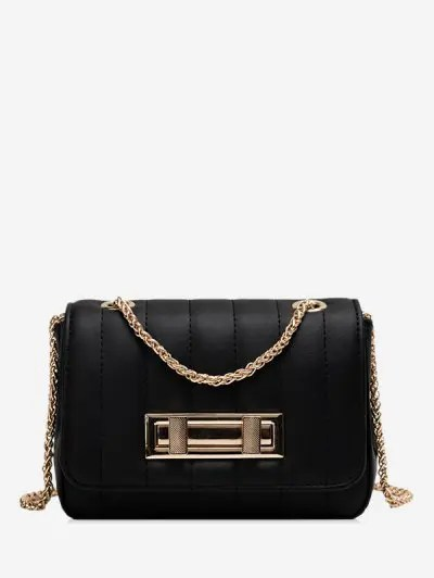 Chic Leather Square Chain Shoulder Bag