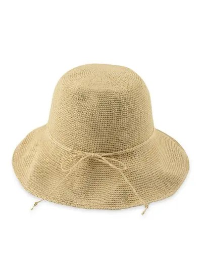 Folding Solid Color Crochet Straw Hat