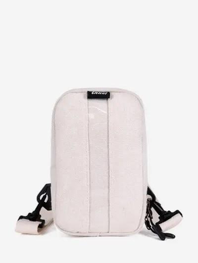 Simple PVC Panel Canvas Crossbody Chest Bag