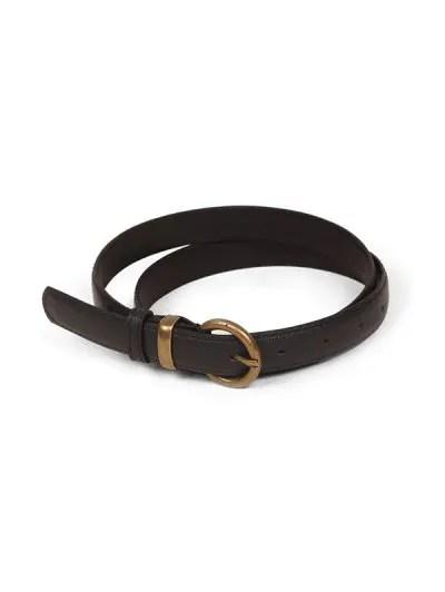 Metal Buckle Vintage PU Leather Belt