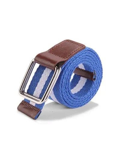 Canvas Knitted Striped Pattern Belt