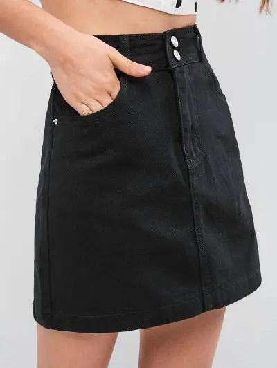 High Rise Mini Denim Skirt