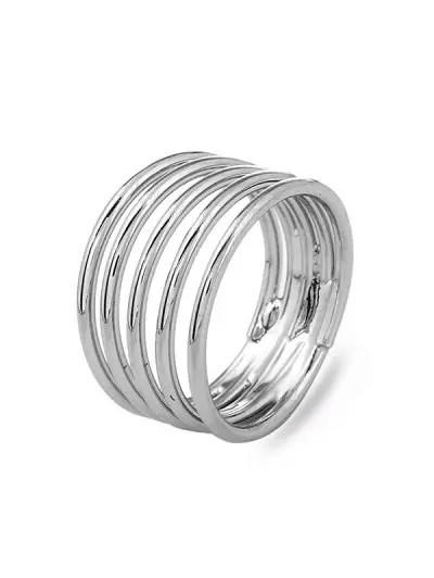 Spring Swirl Spiral Wide Flexible Finger Ring