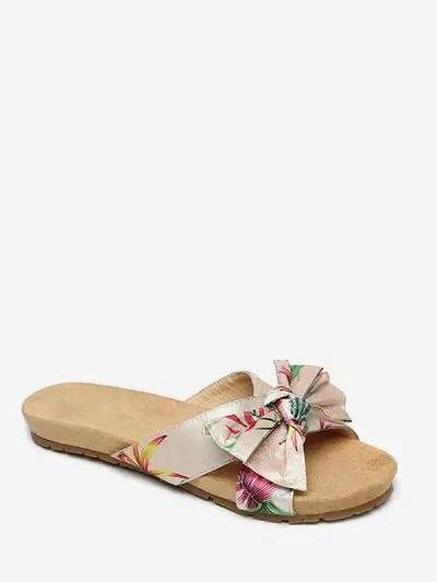 Bohemia Bowknot Flat Heel Sandals