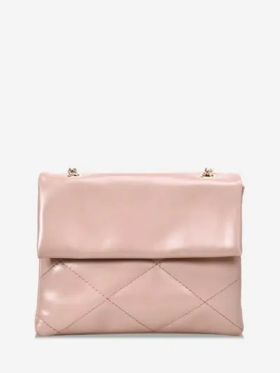 Rhombus Lattice Crossbody Bag