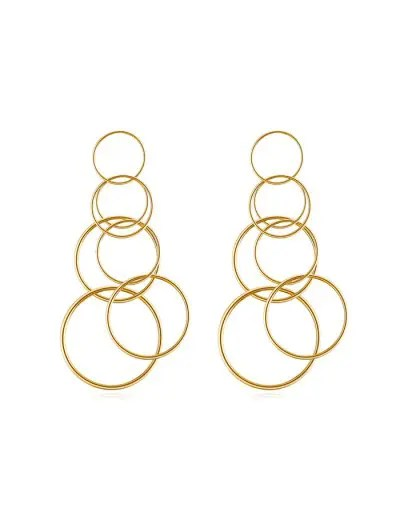 Alloy Circle Multilayered Earrings
