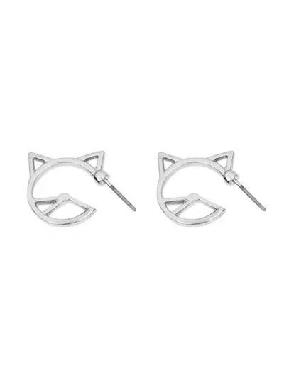 Alloy Kitten Stud Earrings