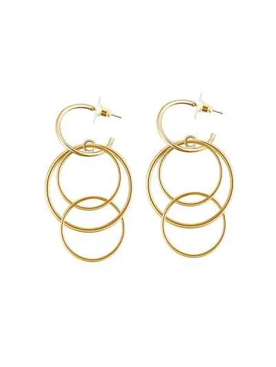 Alloy Layered Circle Earrings
