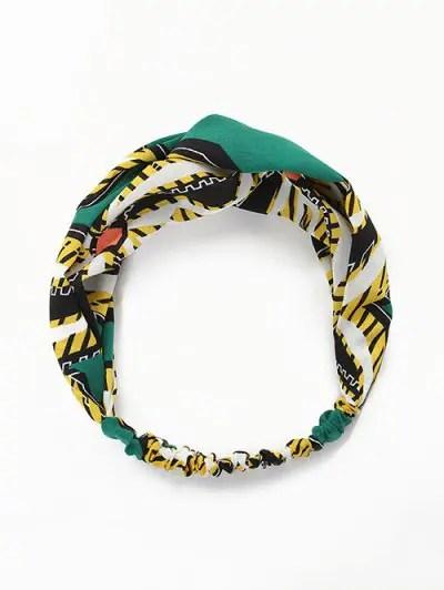 Animal Leaf Print Knot Elastic Headband