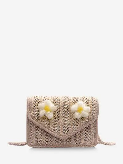 Floral Cover Rope Crossbody Bag