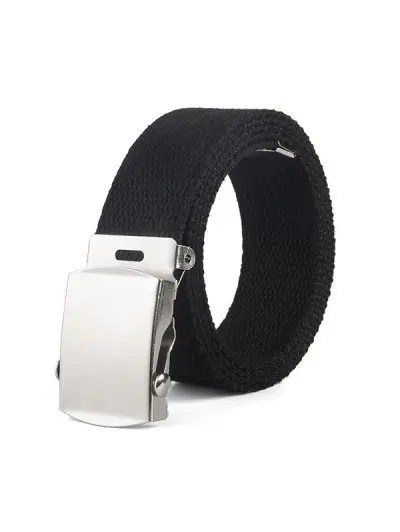 Solid Color Braid Canvas Belt