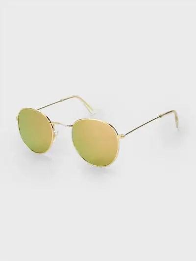Metal Rim Oval Sunglasses