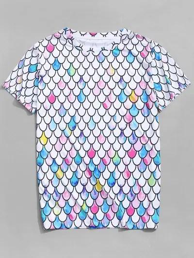 Mermaid Scales Print T shirt