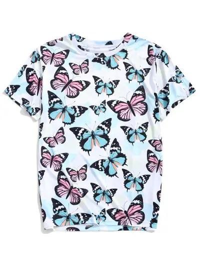 Butterfly Print T shirt