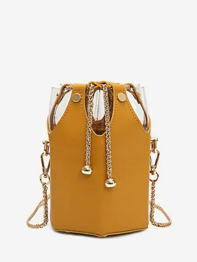Metal Chain Bucket String Bag