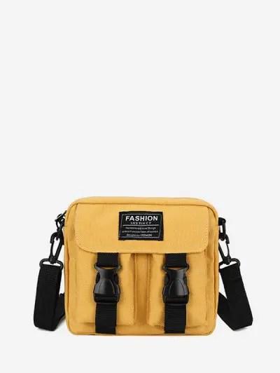 Letter Pattern Crossbody Bag