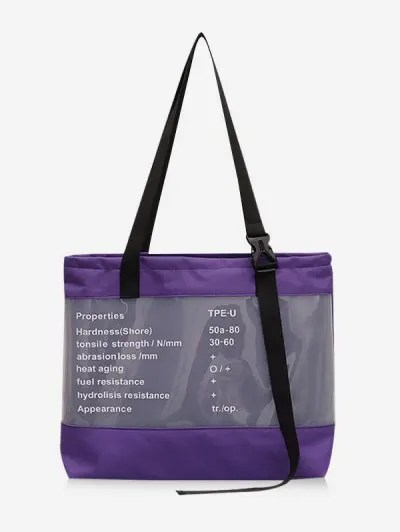 Letter Print Shoulder Bag