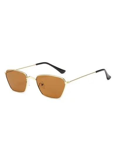 Metal Small Rectangle Vintage Sunglasses