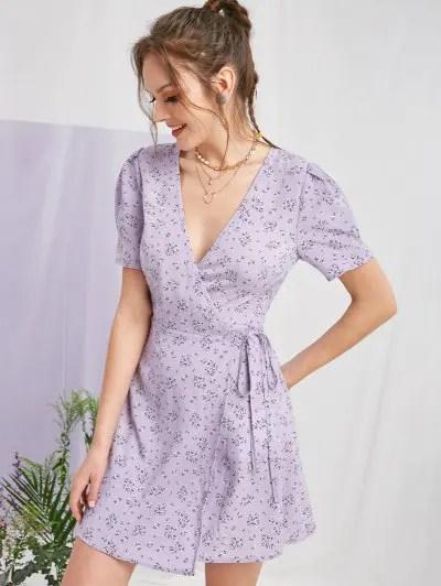 Tiny Floral Print Mini Dress