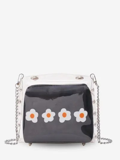 Flower Jelly Chain Crossbody Bag