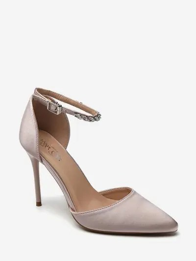 Pointed Toe Ankle Strap High Heel Sandals