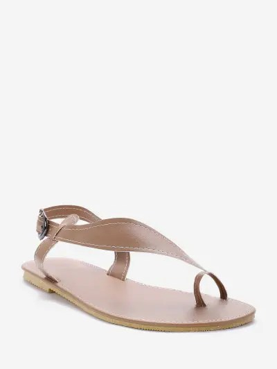 Toe Loop Asymmetrical Flat Sandals