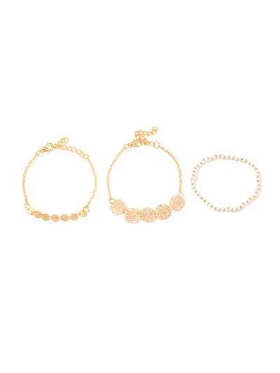 3Pcs Hollow Floral Beaded Bracelet Set