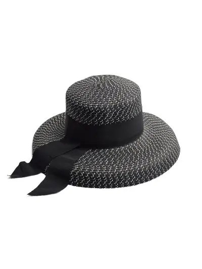 Ribbon Decoration Straw Hat