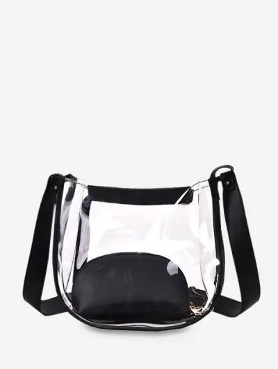 Transparent PVC Patch Bucket Bag