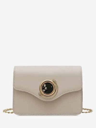 Star Diamante Buckle PU Leather Crossbody Bag