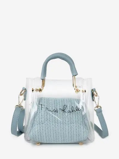Transparent Character Print Handbag Set