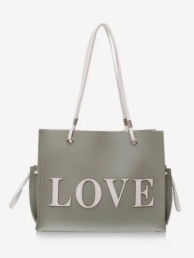 2Pcs Letter Love Shoulder Bag Set