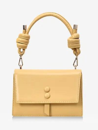 Cover Button Knot Rectangle Handbag
